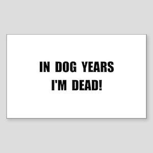 Dog Years Sticker