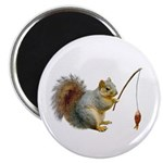 Fishing Squirrel Magnet
