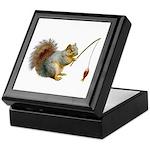 Fishing Squirrel Keepsake Box