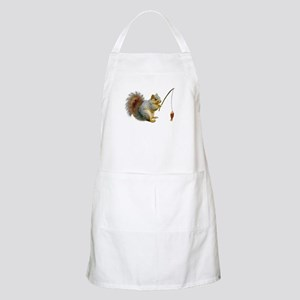 Fishing Squirrel Apron