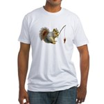 Fishing Squirrel Fitted T-Shirt