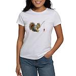 Fishing Squirrel Women's T-Shirt