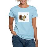 Fishing Squirrel Women's Light T-Shirt