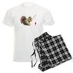 Fishing Squirrel Men's Light Pajamas