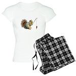 Fishing Squirrel Women's Light Pajamas