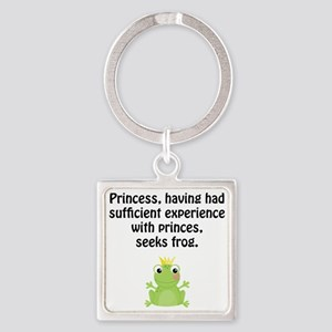Princess Frog Square Keychain