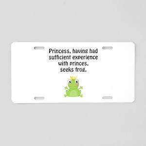 Princess Frog Aluminum License Plate