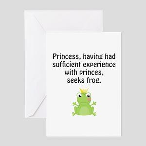 Princess Frog Greeting Card