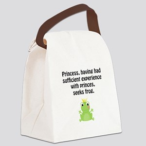 Princess Frog Canvas Lunch Bag