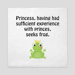 Princess Frog Queen Duvet