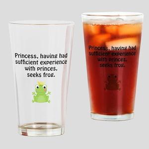 Princess Frog Drinking Glass
