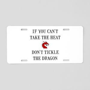 Tickle The Dragon Aluminum License Plate