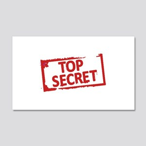 Top Secret Stamp Wall Decal