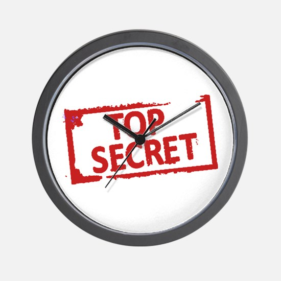 Top Secret Stamp Wall Clock