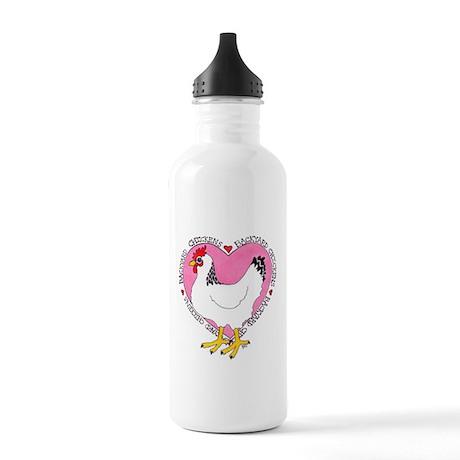 Backyard Chicken Luv Water Bottle
