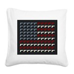 Second Amendment Flag Square Canvas Pillow