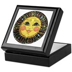 Sun Face #2 (blk) Keepsake Box