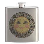 Sun Face #2 (blk) Flask