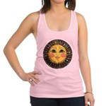 Sun Face #2 (blk) Racerback Tank Top