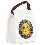 Sun Face #2 (blk) Canvas Lunch Bag