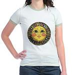 Sun Face #2 (blk) Jr. Ringer T-Shirt