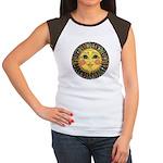 Sun Face #2 (blk) Women's Cap Sleeve T-Shirt
