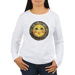 Sun Face #2 (blk) Women's Long Sleeve T-Shirt