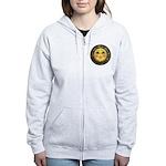 Sun Face #2 (blk) Women's Zip Hoodie
