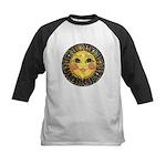 Sun Face #2 (blk) Kids Baseball Jersey