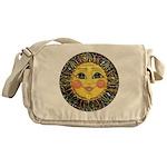Sun Face #2 (blk) Messenger Bag