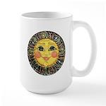 Sun Face #2 (blk) Large Mug