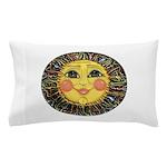 Sun Face #2 (blk) Pillow Case