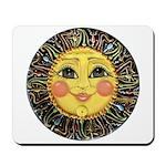 Sun Face #2 (blk) Mousepad