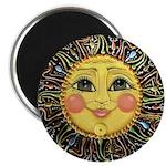 Sun Face #2 (blk) Magnet