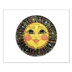 Sun Face #2 (blk) Small Poster