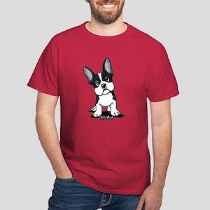 French Bulldog B/W Mask Dark T-Shirt