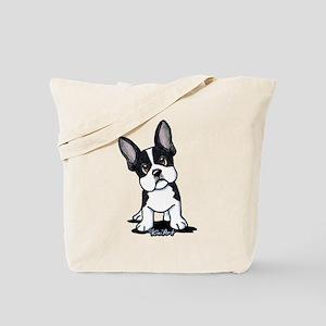 French Bulldog B/W Mask Tote Bag