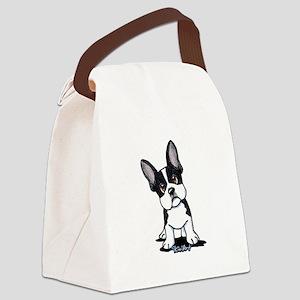 French Bulldog B/W Mask Canvas Lunch Bag