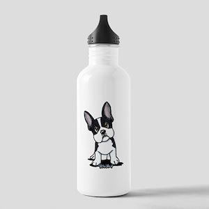 French Bulldog B/W Mask Stainless Water Bottle 1.0