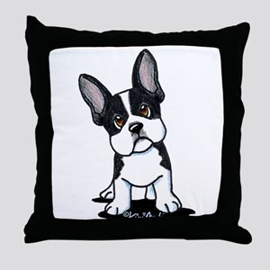 French Bulldog B/W Mask Throw Pillow