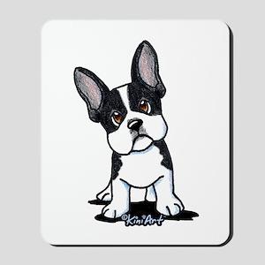 French Bulldog B/W Mask Mousepad