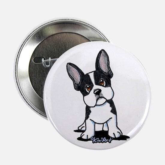 "French Bulldog B/W Mask 2.25"" Button"