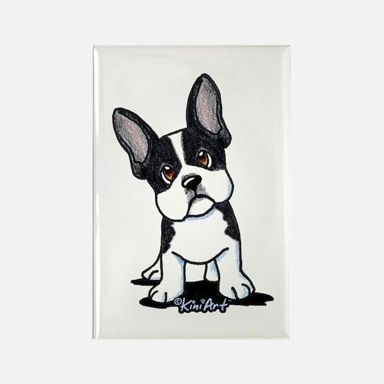 French Bulldog B/W Mask Rectangle Magnet