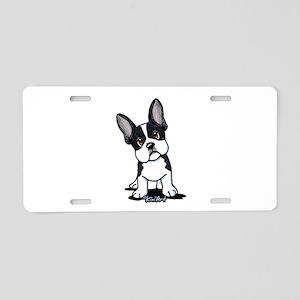 French Bulldog B/W Mask Aluminum License Plate