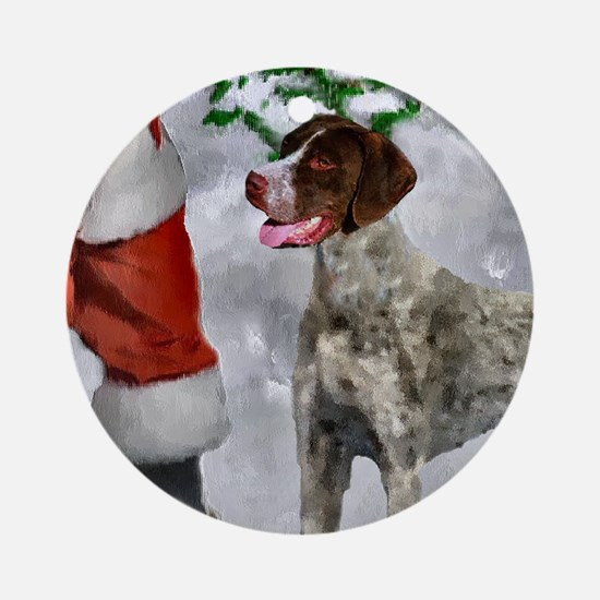 German Shorthaired Pointer Christma Round Ornament