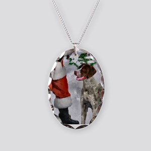 German Shorthaired Pointer Chr Necklace Oval Charm
