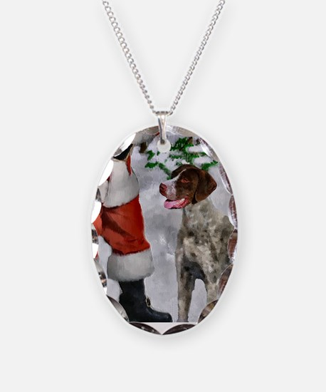 German Shorthaired Pointer Chr Necklace