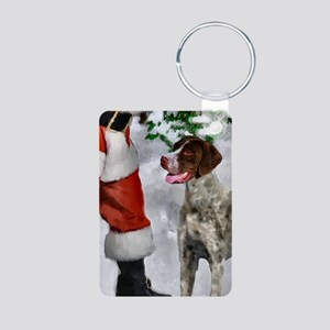 German Shorthaired Pointer Aluminum Photo Keychain