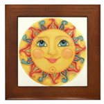 Sun Face #3 - Summer Framed Tile