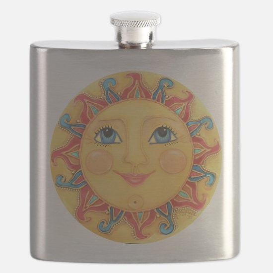 Sun Face #3 - Summer Flask